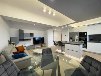 NOU Apartament 3 Camere LUX CORTINA Academy Mobilat si Utilat 104m Vedere Oras
